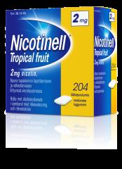 NICOTINELL TROPICAL FRUIT 2 mg lääkepurukumi 204 fol